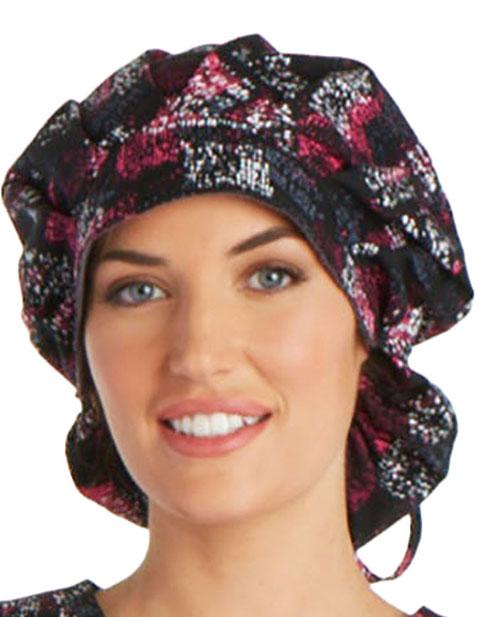 Cherokee Unisex Pop Blocks Bouffant Scrub Hat