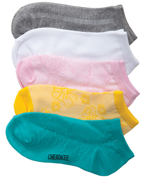 Cherokee Women's 6-5pr packs of No Show Socks