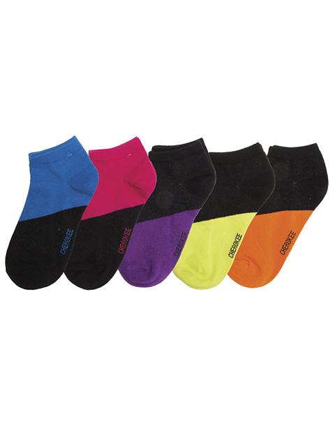 Cherokee Women's Contrast 6-5pr packs of No Show Socks