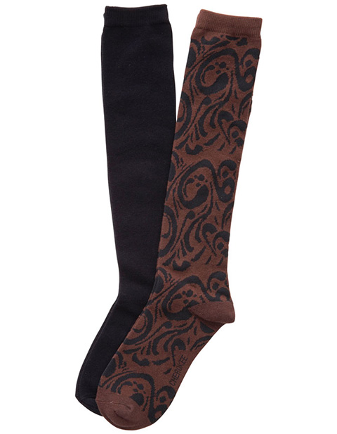 Cherokee Footwear Women's 2pk Knee High Socks