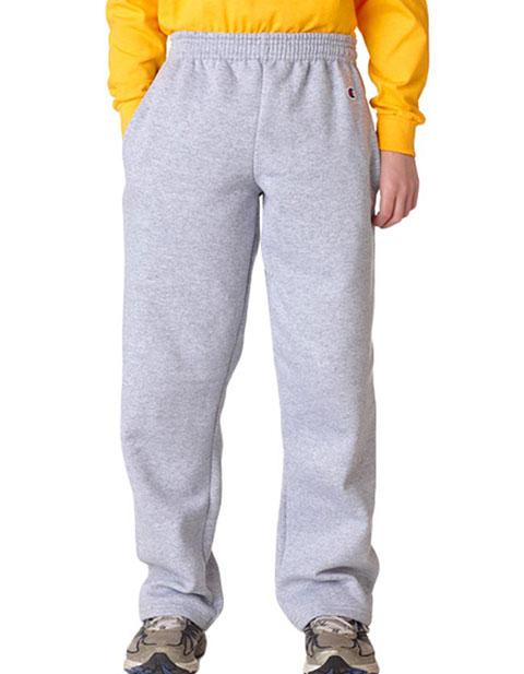 Champion Youth Eco® Open-Bottom Fleece Pants