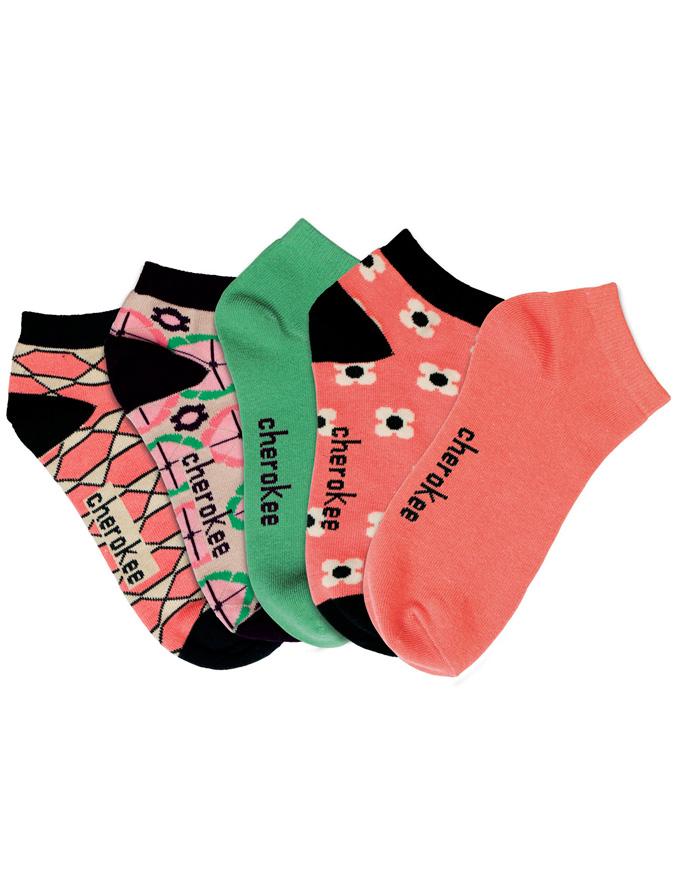 Cherokee Womens Assorted 6-5pr packs of No Show Socks