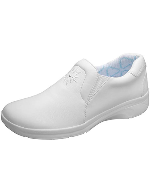 Cherokee Women's Leather Slip Resistant White Footwear