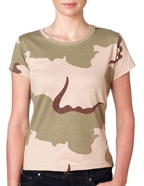 3665 Code V Ladies' Fine Cotton Jersey Camouflage T-Shirt