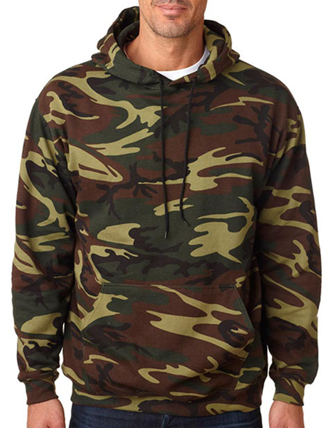 3969 Code V Adult Camouflage Pullover Hooded Blended Sweatshirt