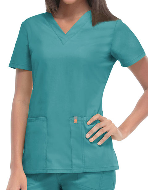Code Happy Bliss with Certainty Plus Women's V-Neck Nursing Top