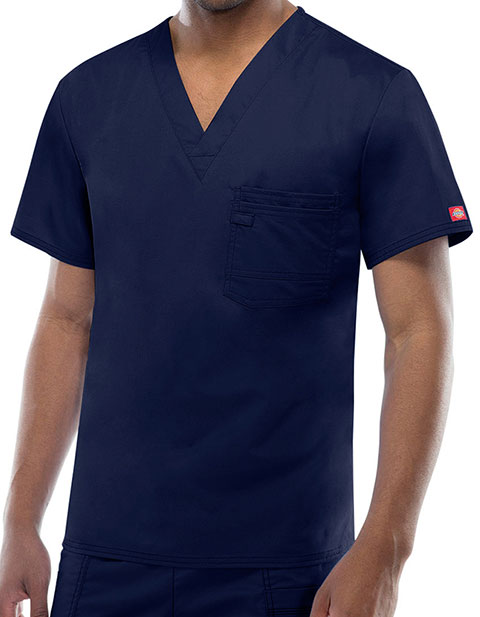 Dickies Evolution NXT Men's Short Sleeve V-Neck Scrub Top