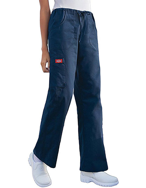 Office 365 Cherokee >> Dickies Soft Works Junior Petite Multi-Pocket Drawstring Scrub Pants for $12.45 | PulseUniform