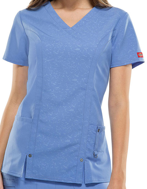 Dickies Xtreme Strech Women's V-Neck Nursing Top