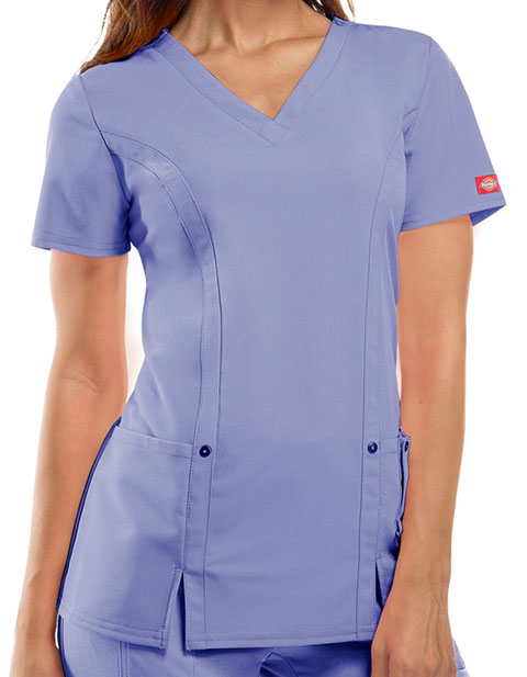 Dickies Xtreme Stretch Junior V-Neck Nursing Scrub Top