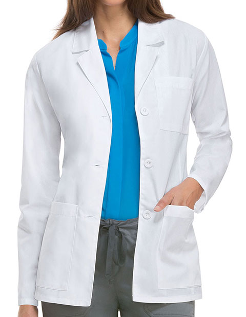 Dickies EDS Professional Whites Women's Antimicrobial with Fluid Barrier 28 Inches Lab Coat