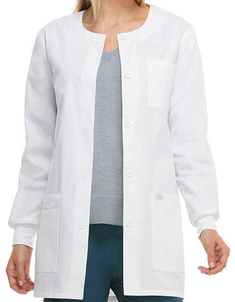 Dickies EDS Missy Collarless 32-Inch Medical Lab Coat