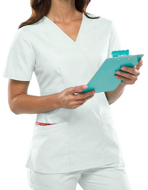 Dickies EDS Women's Jr. Fit Mock Wrap Nursing Scrub Top