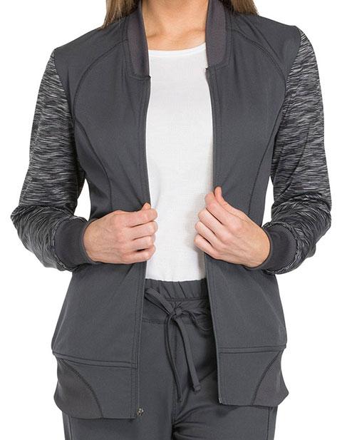 Dickies Dynamix Women's Zip Front Fashion Warm-up Jacket