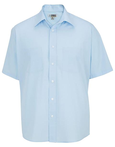 Men's Traditional Short Sleeve Broadcloth Shirt