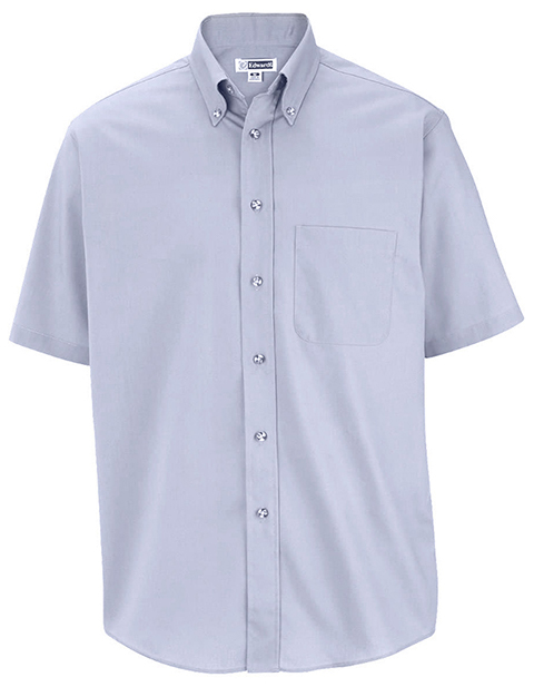 Edwards Men's Easy Care Short Sleeve Poplin Shirt