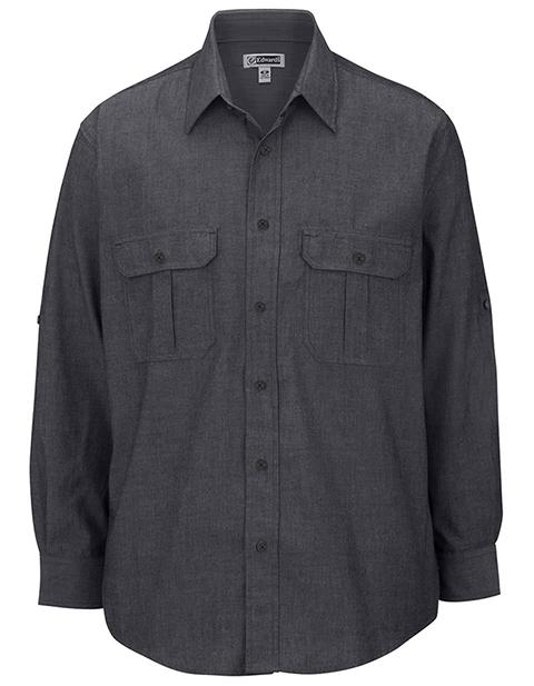 Edward Men's Chambray Roll-up Sleeve Shirt