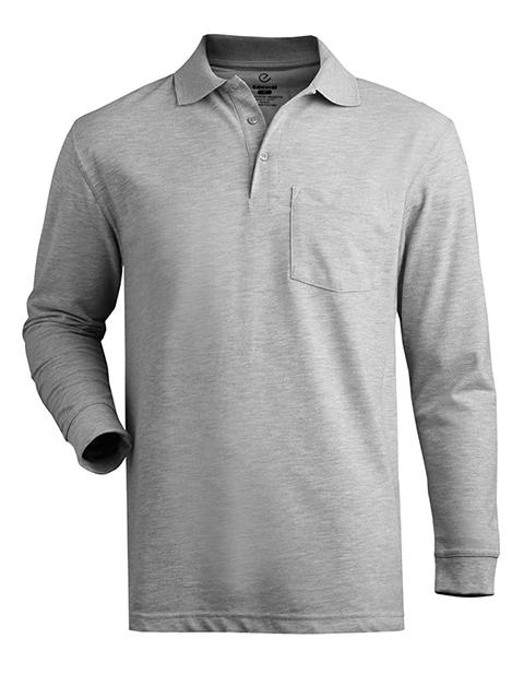 Unisex Long Sleeve Pique Polo With Pockets