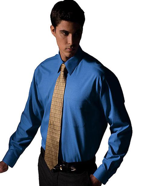 Men's Long Sleeve Pinpoint Oxford Shirt