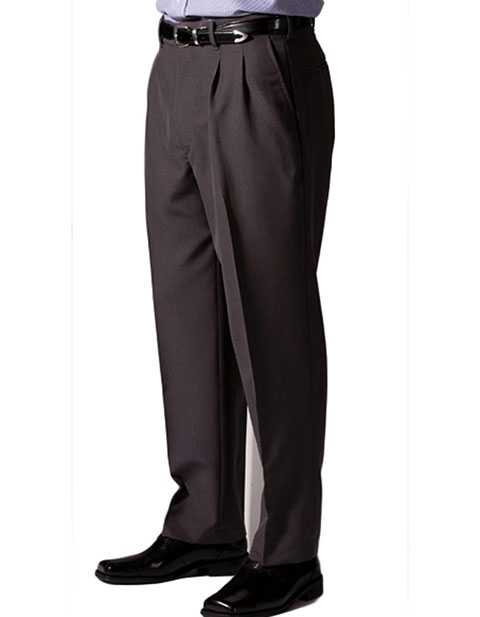 Men's Lightweight Wool Blend Pleated Pant