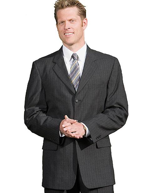 Men's Pinstripe Wool Blend Suit Coat
