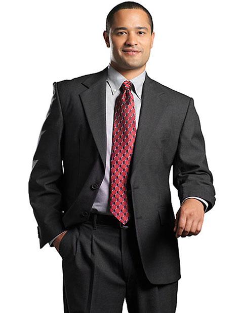 Men's Single Breasted Wool Blend Suit Coat