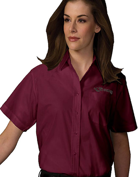 Women's Short Sleeve Value Broadcloth Shirt