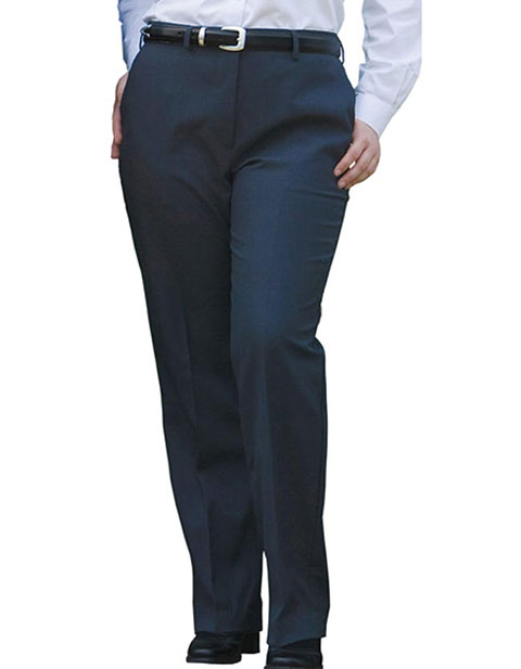 Women's Wool Blend Flat Front Dress Pant