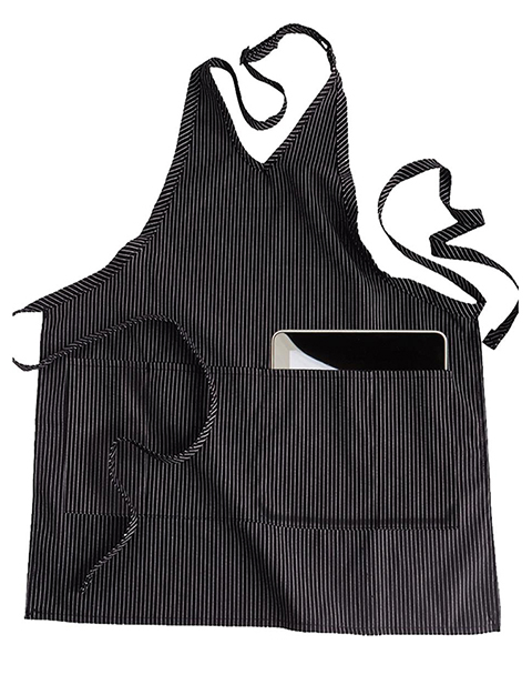 V-neck Bib Apron With Pockets