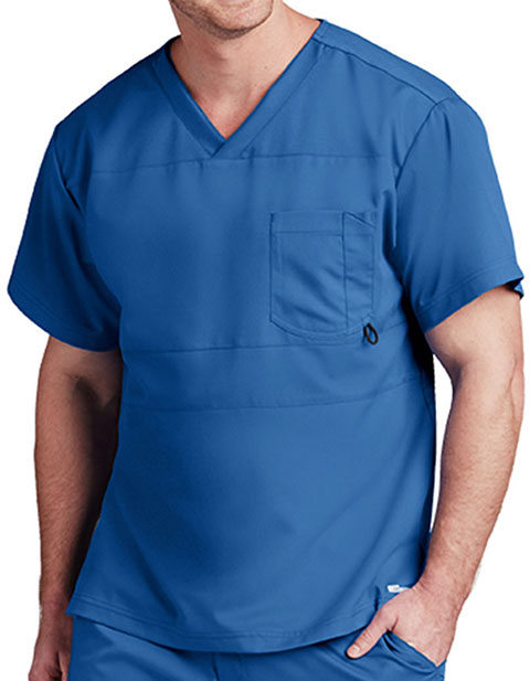 Grey's Anatomy Active Men's V-Neck Panelled Scrub Top