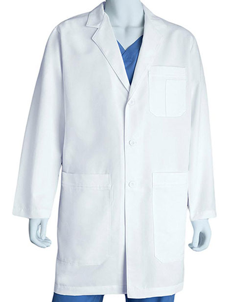 Grey's Anatomy Men's Five Pocket French Seam Long Lab Coat
