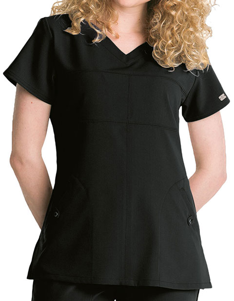 Greys Signature Women's Two Pocket Soft V-Neck Scrub Top