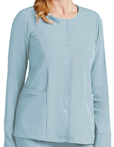 Grey's Anotomy Women's Two Pocket Snap Front Scrub Jacket