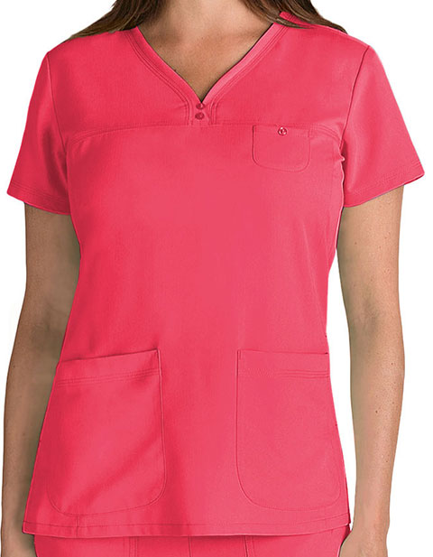 Grey's Anatomy Junior Fit Three Pocket V-Neck Scrub Top