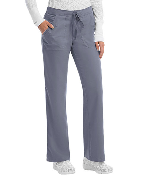 Grey's Anatomy Women's Four Pocket With Logo Elastic Tall Scrub Pant