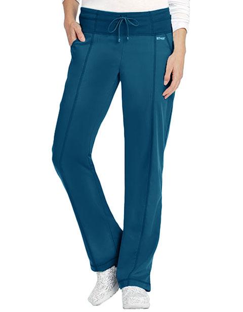Grey's Anatomy Women's 4 Pocket Yoga Knit Petite Scrub Pants