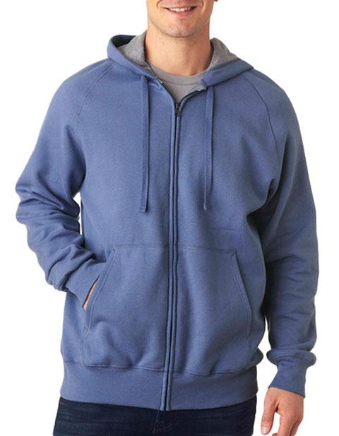 N280 Hanes Adult Nano Full-Zip Blended Hooded Fleece