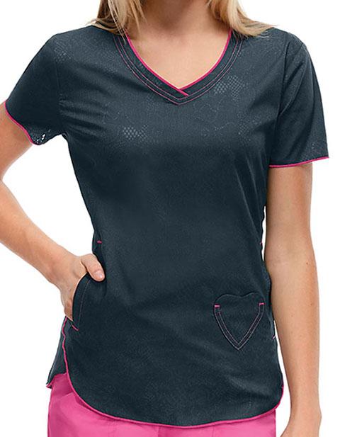 HeartSoul Women's Lovely In Lace V-Neck Top