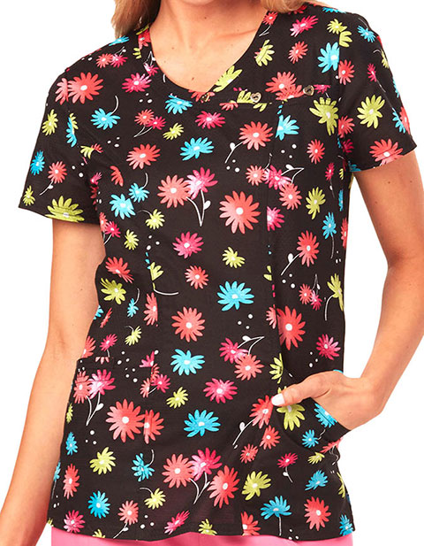 HeartSoul Colour Pop Women's Seize The Daisy Floral Printed Top
