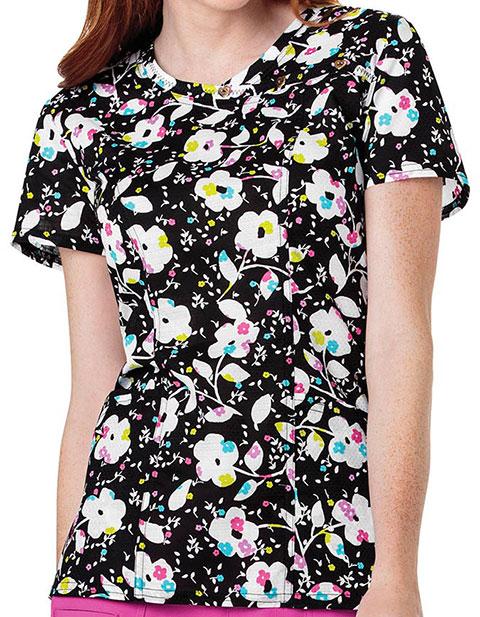 HeartSoul Summer Garden Party Women's Floral Print Top
