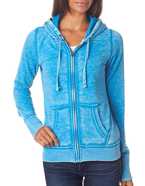 J8913 J-America Ladies' Vintage Zen Full-Zip Hooded Fleece