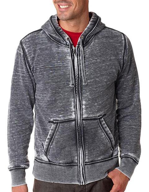 J8916 J-America Adult Vintage Zen Full-Zip Hooded Fleece