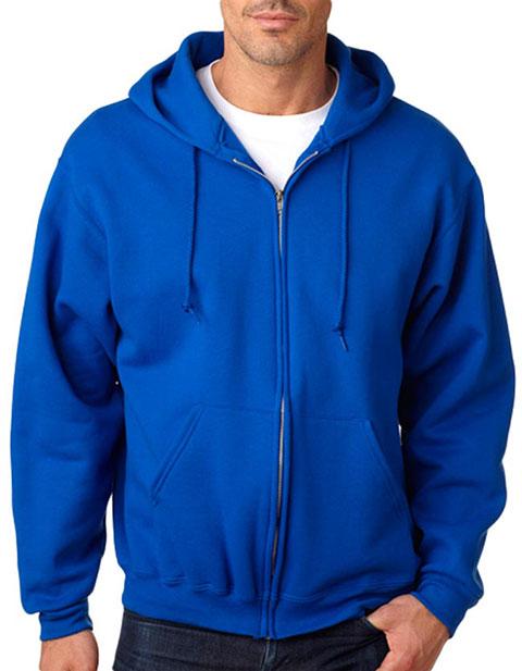 Jerzees Adult Super Sweats Full-Zip Blended Hooded Sweatshirt