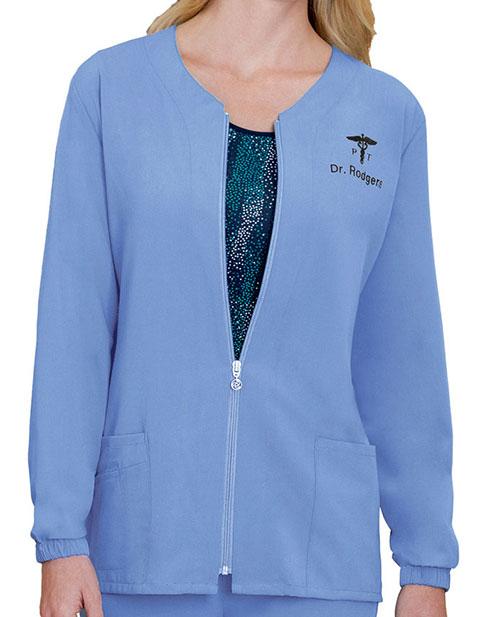 Buy Jockey Scrubs Women S Zippered Warm Up Jacket For 30 99