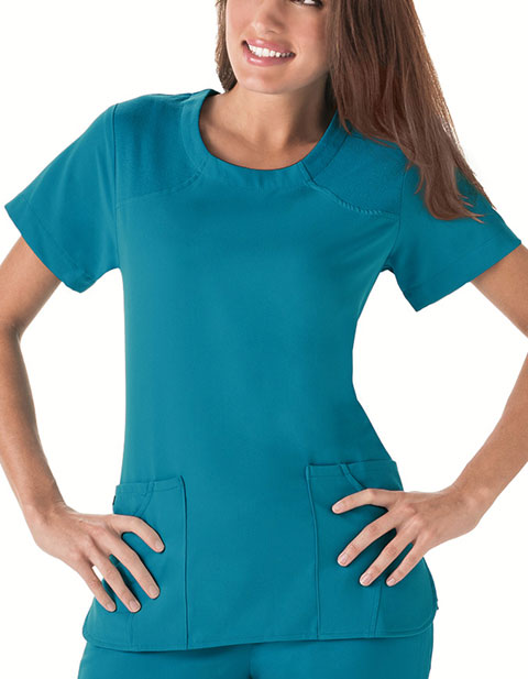 Jockey Six Pockets Sensational Nursing Scrub Top