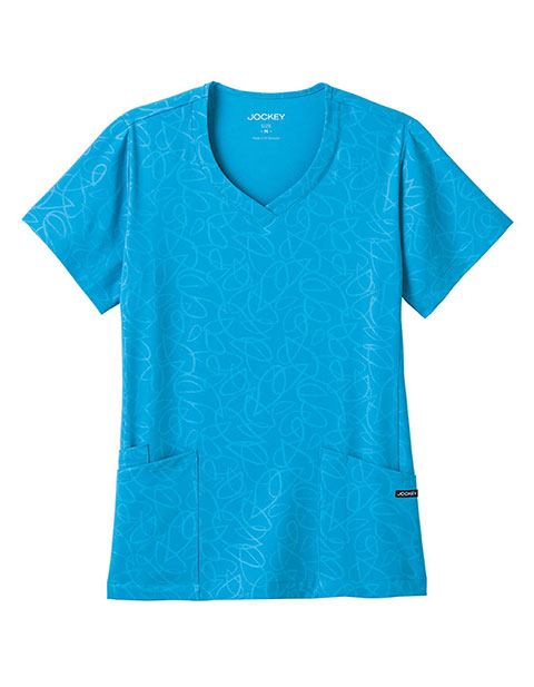 Jockey Women's Teardrop Illusion Solid V-Neck Top