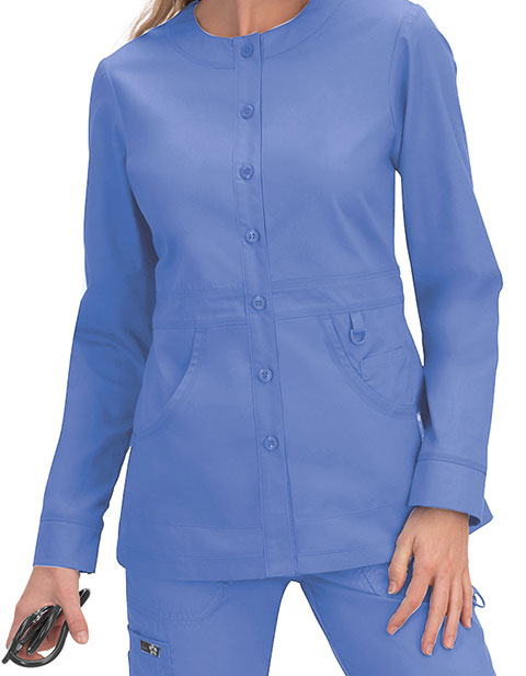 KOI Women's 7 Button Front Olivia Scrub Jacket
