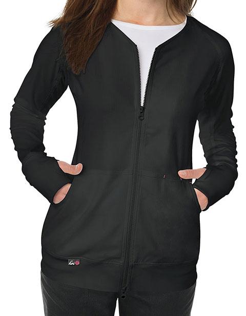 KOI Lite Women's V-neck Clarity Zip Front Jacket