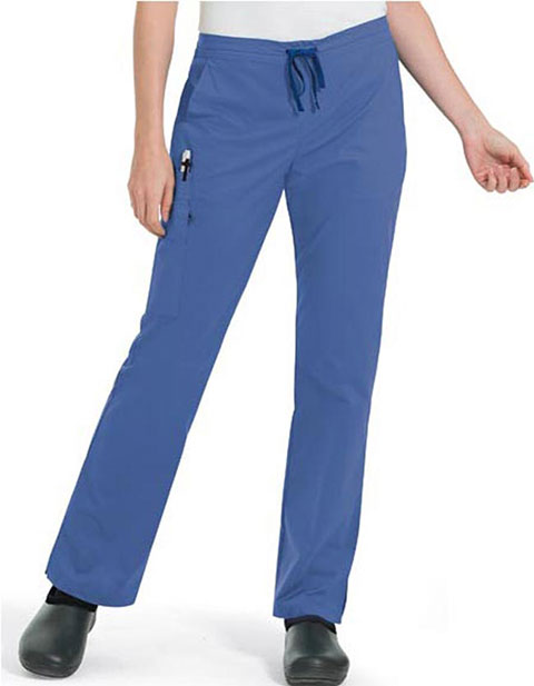 Landau Women's Two Hip Pockets Cargo Petite Scrub Pant