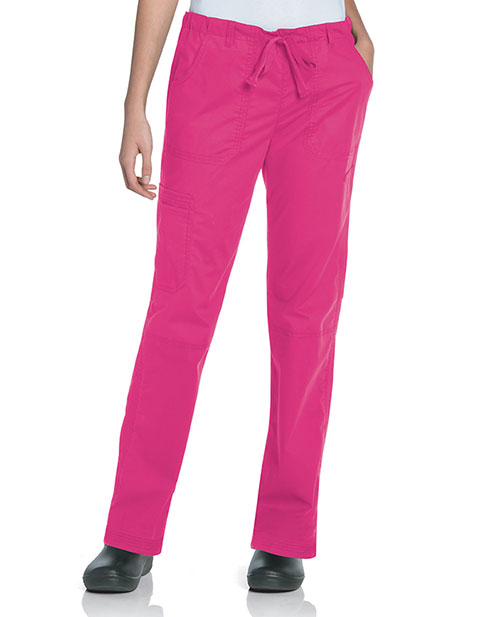 Landau Women's Petite CVC Straight Leg Cargo Pant